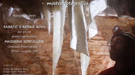 Mostra fotografica sulle esplorazioni alla grotta Scrivilleri